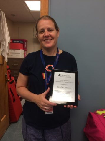 P.E. teacher Linda Carlson named Teacher of the Year