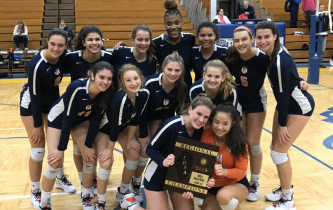 Girls volleyball after winning regionals