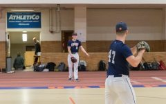 Divison-1 commits #47 Aidan Krupp (right) and #11 Grant Holdefield (left) will headline an inexperienced pitching staff this season.