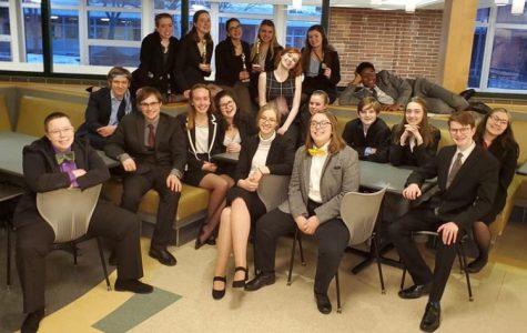 Group photo of speech team