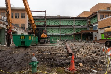The site that formerly belonged to the South Cafeteria, now completely demolished.