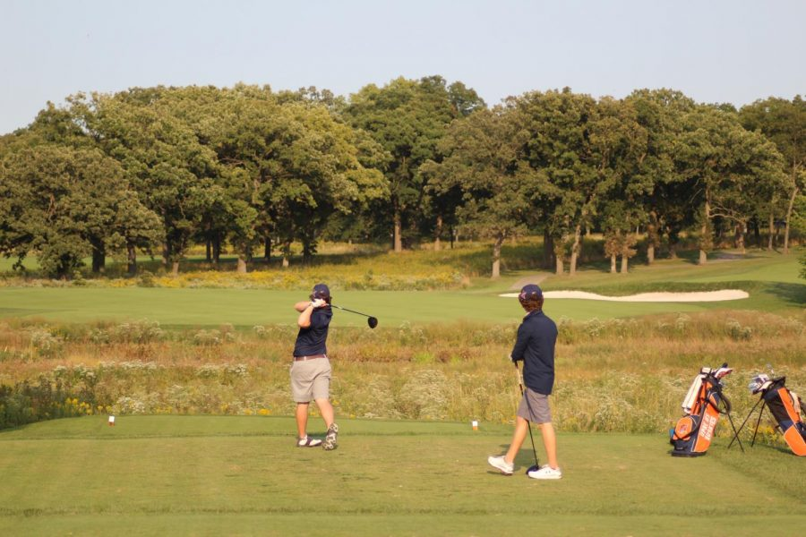 OPRF Junior Liam Spillane tees off at a recent match