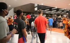 Freshman participating in Huskie Kick-Off Day, their first day of school